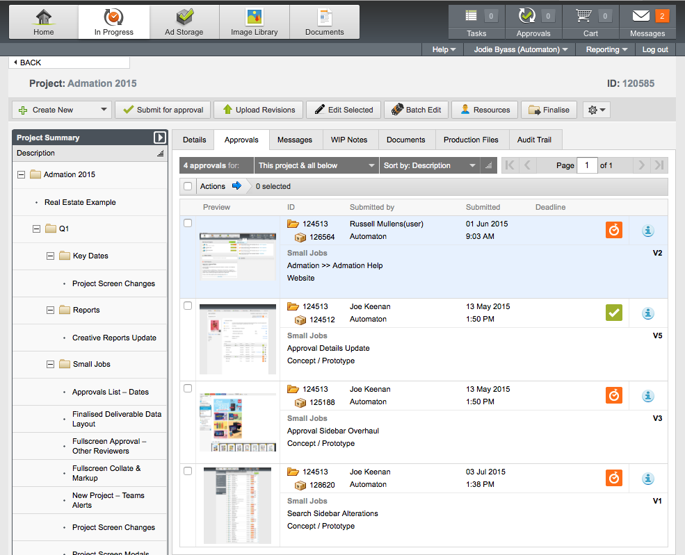 Admation Approval Workflow and Project Managment Software